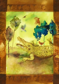Croc on land